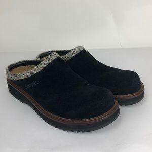 SIMPLE BRAND Womens US 7 M Black Suede Leather